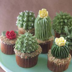 DIY Cactus Cupcakes cactus cupcakes