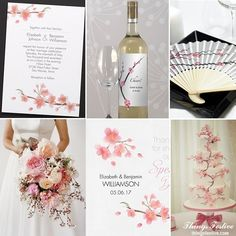 Cherry Blossom Wedding Inspiration #wedding #cherryblossomwedding