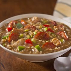 Perfect for groups and parties, this is a Mardi Gras favorite. andouill gumbo, mardi gras