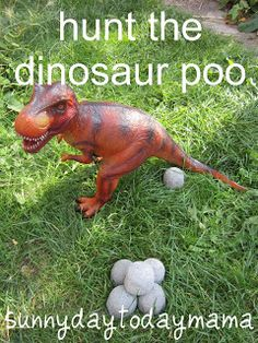 Hunt the fossilised dinosaur poo (and a Picnic Party) http://sunnydaytodaymama.blogspot.co.uk/2013/10/hunt-fossilised-dinosaur-poo-and-picnic.html