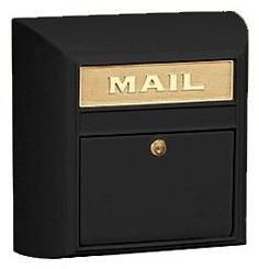 Modern Mailbox - Plain Door - Black by Salsbury Industries. $104.95. Enhance your home's entrance and bring a modern touch to your outdoor decor with this durable cast aluminum mailbox, finished in black powder coat with a brass mail slot for added interest. Highlighted by a lock for protection, the unit is designed for surface mounting and will be an elegant option for any design. Modern mailbox is made of cast aluminum in black powder coat finish. Features a brass ma...