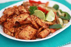 spicy blackened fish fajitas