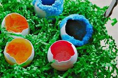 those northern skies: geode easter eggs to make with your kids