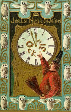 A great collection of vintage Halloween cards.