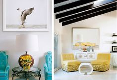 contrast colour ceiling beams @Edie Wadsworth