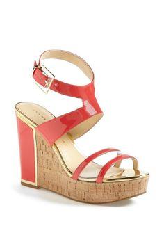 maxi dresses, cork wedg, wedg sandal, wedge sandals, ivanka trump wedge coral, gold cork, coral wedg, maxi dress red