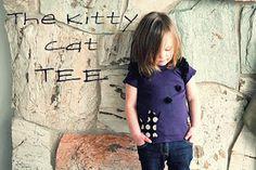 girl clothing, sew, little girls, kitty cats, jackets, kitti cat, cat tee, kid, shirt