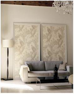Framed wallpaper