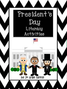 Must have this for February!  President's Day packet full of literacy activities!