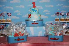 airplane baby shower cakes | festa-de-aniversario-tema-avião-