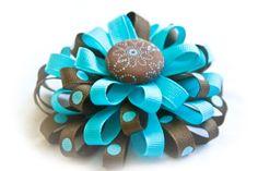 how to make flower loop hair bows