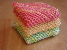 Knit Dishcloth Pattern