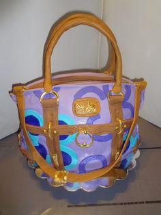coach bags, designer handbags, coach bag cake, cake bag, design handbag