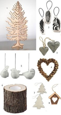 natural style christmas ornaments