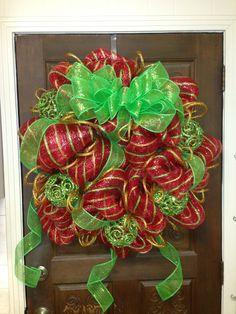 Christmas wreath DIY deco mesh
