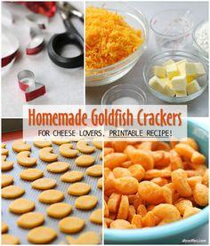 Homemade Goldfish Crackers | DIYSelfies