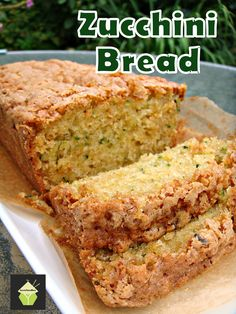 Super Moist Zucchini Bread.  A wonderful soft, moist and sweetish loaf cake perfect with a cup of tea! #zucchini #cake #courgette