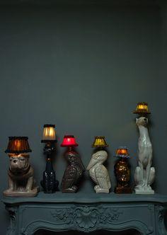 lights, decor, lamps, interior, animals, anim lamp, dog, atelier, abigail ahern