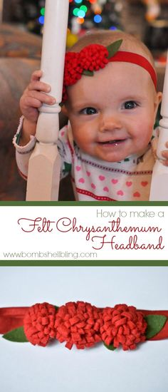 Felt Chrysanthemum Headband Tutorial -- so simple!!
