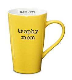 "Better than a real trophy because you can carry this one around! Celebrate mom with our Trophy Mom mug! The perfect size, this 5.5"" - 18oz. Latte Mug is sure to show Mom how much you care! www.wrapsodyonline.com #trophymom #shopwrapsody"