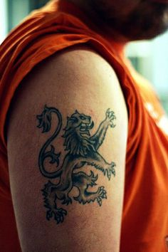 Rampant lion for Paul