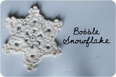Bobble Stitch Snowflake - free pattern