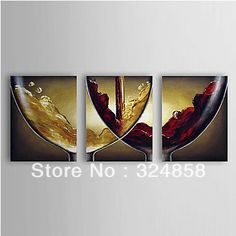 Wine Wall Decor | ... white red wine Wall art home Decor abstract Oil Painting on canvas