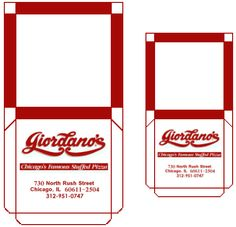 On The Scene - Rooms & Scenes - Giordanos - Pizza Boxes