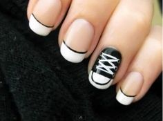 Black and white Converse nails.