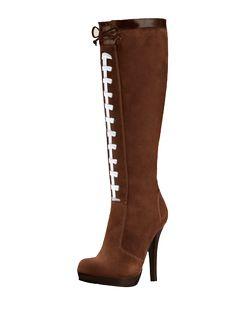 HERSTAR™ Women's Pigskin Football High Heel Boots