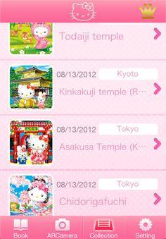'Hello Kitty' Tour-Guide App Takes You Around Japan hello kitti, kawaii 可愛い, tourguid app