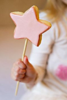 Pink Star Wand Cookies