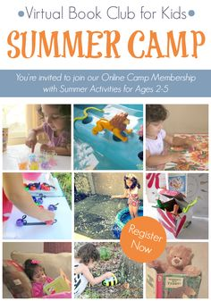 Registration OPEN for the Virtual Book Club for Kids Summer Camp 2014.  Join Camp Directors  @Kristina @ Toddler Approved @Rainy Day Mum AND @The Educators' Spin On It        in an exclusive online group as we share simply, fun and  educational activity for the Summer for kids ages 2-5 #vbckidscamp