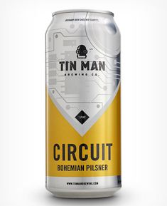 Tin Man Brewing Co. cans designed by Melodic Virtue.
