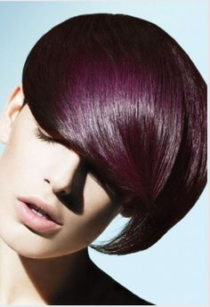 darker plum color. used over a light brown base, V mixed with Intense Base and finished with gloss. promotional picture for Aveda's new Violet Pure Pigment!