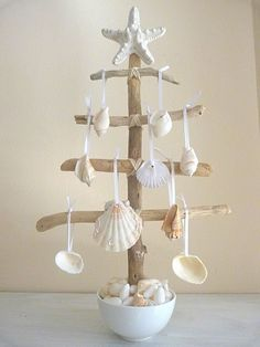 shell tree. Doing this for the kids beach themed bath room