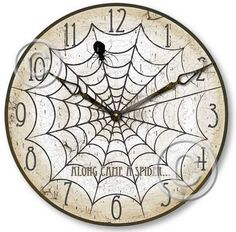 spider web clock face