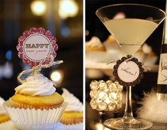 new years party, martini, drink, dinner parties, party printables, eve parti, cupcake decorations, new years eve, year eve