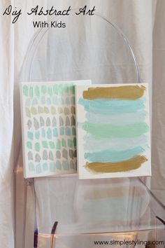 DIY Abstract Art With Kids www.simplestylings.com