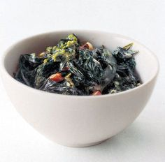 Brown-Butter Creamed Winter Greens ~ good fortune food for the New Year