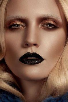 Golden eye and vamp lips