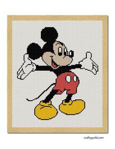 mickey mouse free cross stitch pattern-01