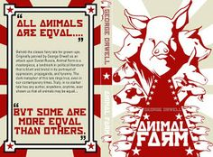 #UWBookMadness Animal Farm by George Orwell   Category: Required Readings   In this political satire, the early history of the Soviet Union becomes a farmyard allegory. Orwell transforms Stalin and Trotsky into the boars, Napoleon and Snowball, who convince the rest of the animals to overthrow Farmer Jones and create a workers' paradise.