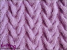 How To Follow A Knitting Pattern : Beautiful Knitting Stitches on Pinterest