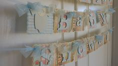 Baby Shower Banner Boy  shabby chic by ASweetCelebration on Etsy