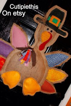 Thanksgiving door hanger- Turkey Door Hanger- fall door hanger