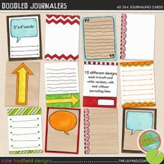 love these journal cards
