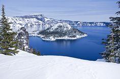 Crater Lake, Oregon. Winter Wizard by BoscoMtn, via Flickr