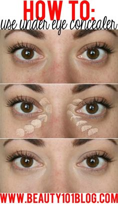 Banish those under eye circles and discoloration with this concealer tutorial! It's SO easy!