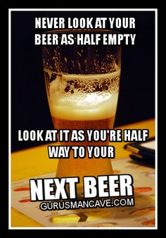 SYMPTOM: Drinking fails to give taste and satisfaction, beer is unusually pale and clear.  FAULT: Glass empty.  ACTION: Find someone who will buy you another beer.